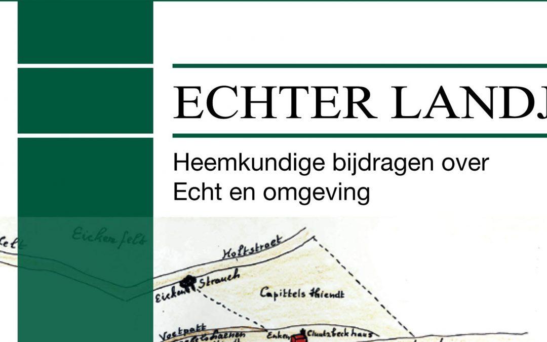 Jaarboek Heemkundekring Echter Landj nr. 14
